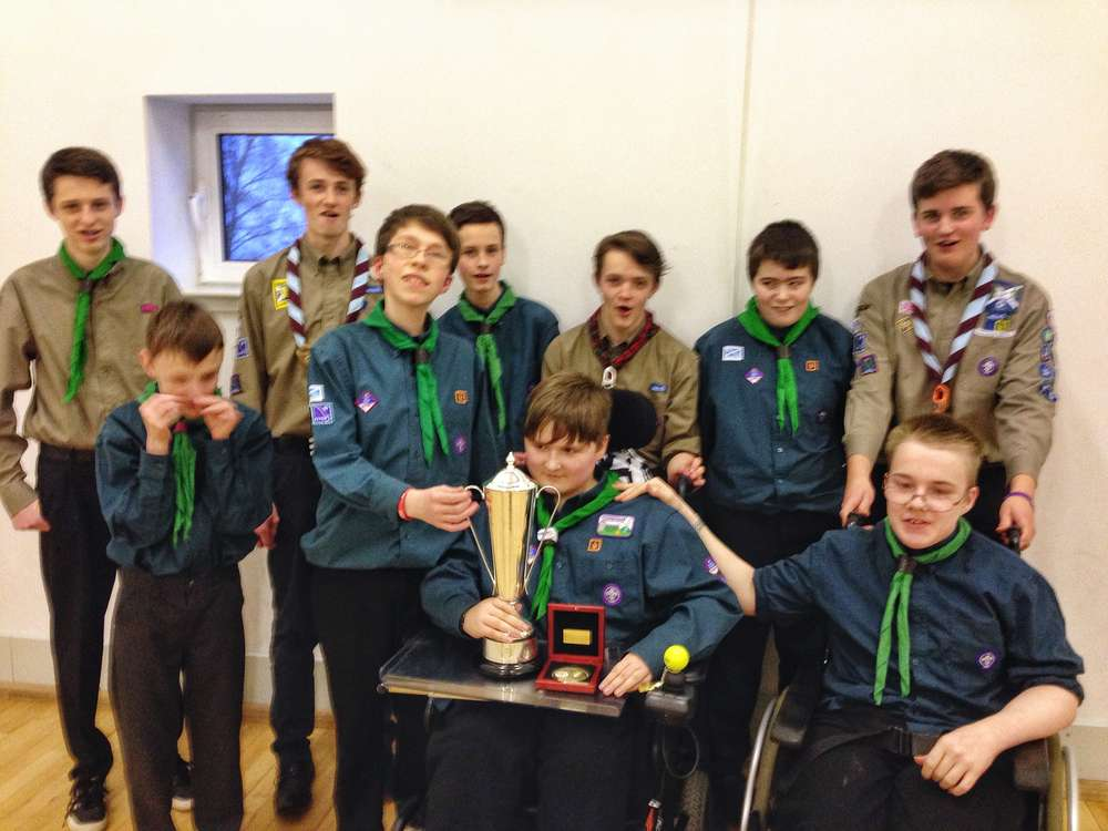 Clyde Scout in Scottish Powerchair Football Winning team