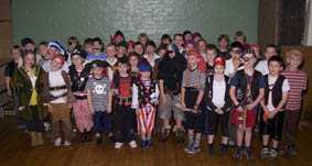 Cubs from the 29th Glasgow dressed as Pirates