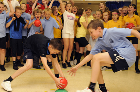 Photo of children taking part in Ultimate Dodgeball
